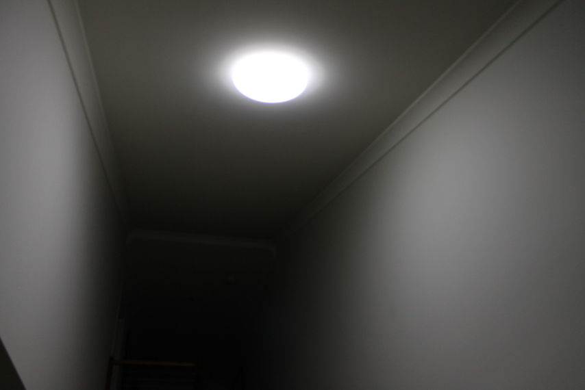 After - light on and installed